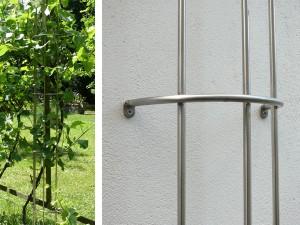 Zur Befsetigung an der Fassade oder auch an Mauern und Zäunen - de greiff design